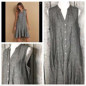 Soft Surroundings linen Cayo Costa dress